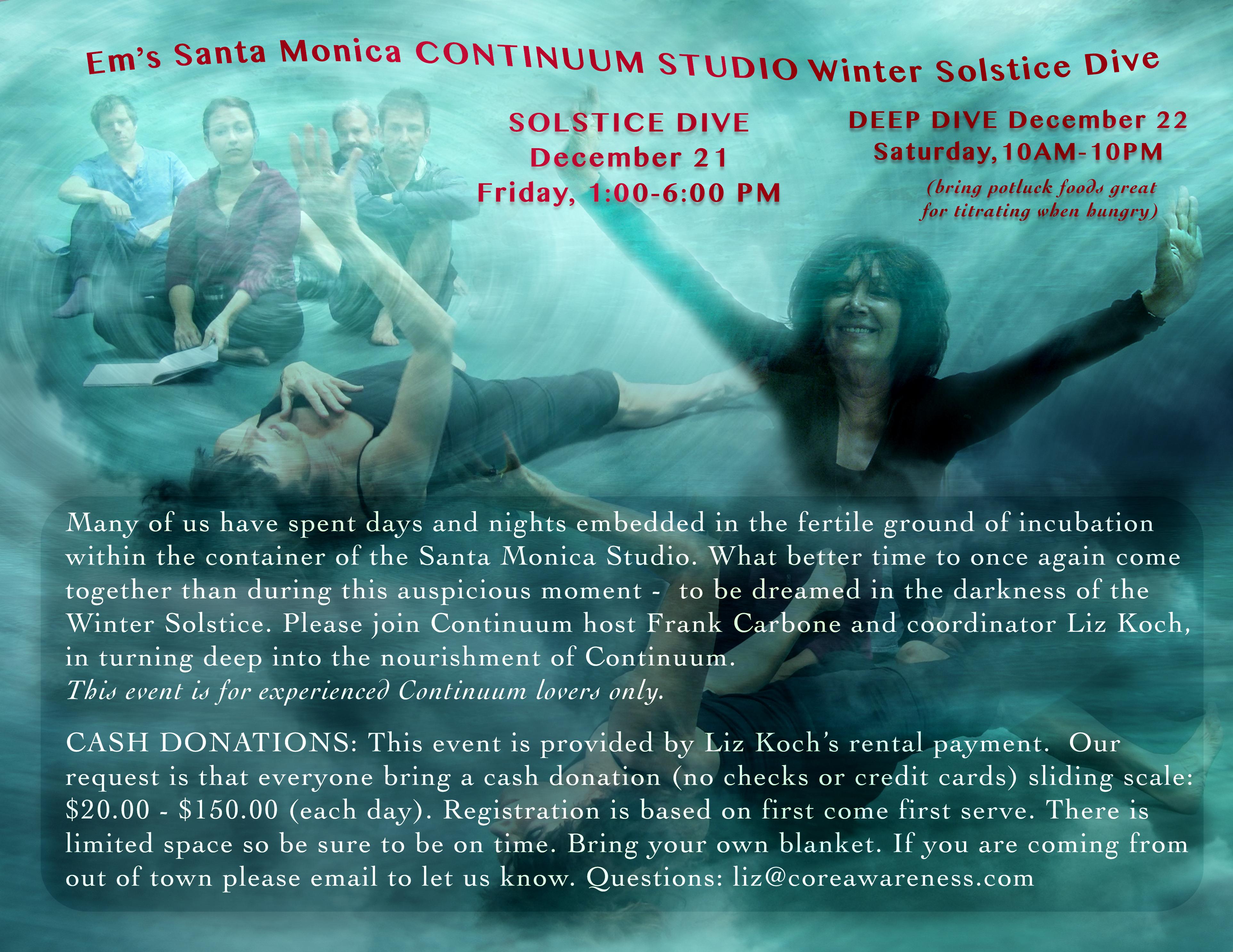 Continuum Studio Winter Solstice Dive